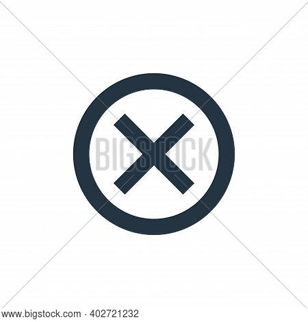 cross sign icon isolated on white background. cross sign icon thin line outline linear cross sign sy