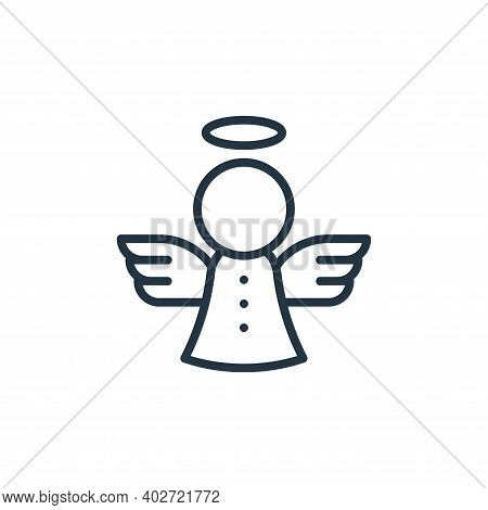 angel icon isolated on white background. angel icon thin line outline linear angel symbol for logo,