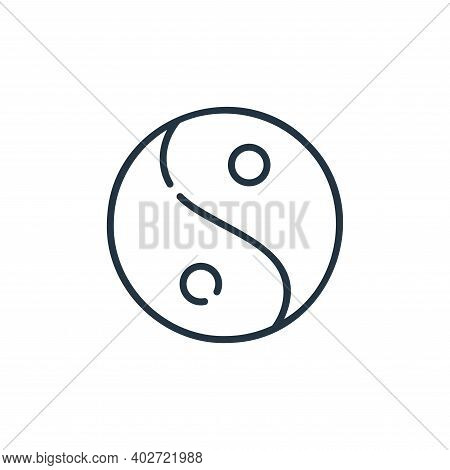 taoism icon isolated on white background. taoism icon thin line outline linear taoism symbol for log