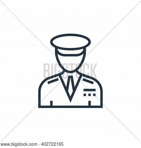 captain icon isolated on white background. captain icon thin line outline linear captain symbol for