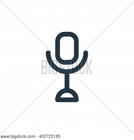 microphone icon isolated on white background. microphone icon thin line outline linear microphone sy