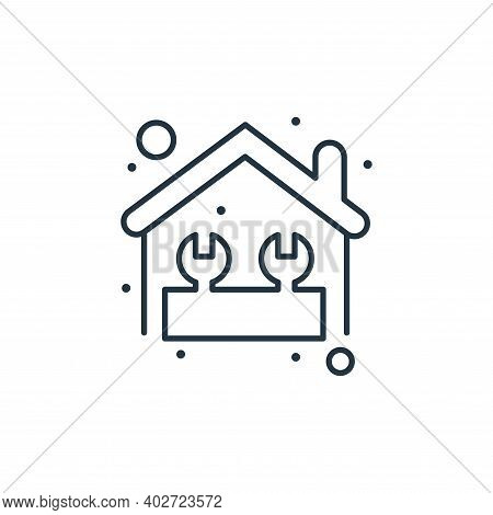 home repair icon isolated on white background. home repair icon thin line outline linear home repair