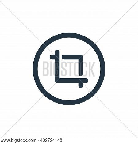 crop icon isolated on white background. crop icon thin line outline linear crop symbol for logo, web