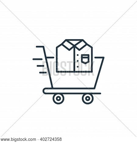 shopping cart icon isolated on white background. shopping cart icon thin line outline linear shoppin