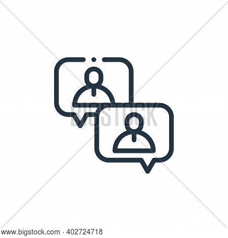conversation icon isolated on white background. conversation icon thin line outline linear conversat