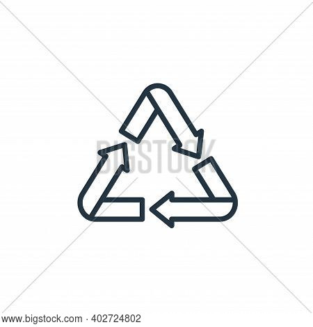 recycle sign icon isolated on white background. recycle sign icon thin line outline linear recycle s