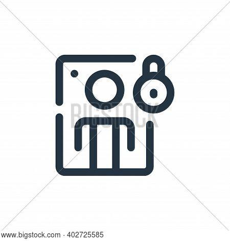 quarantine icon isolated on white background. quarantine icon thin line outline linear quarantine sy