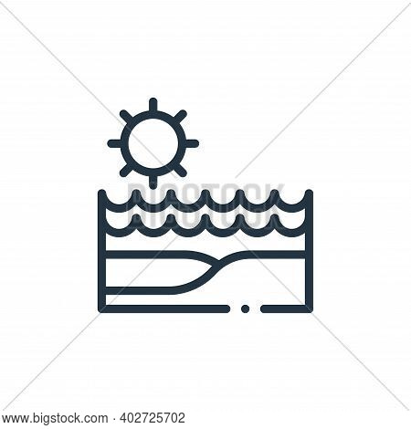 beach icon isolated on white background. beach icon thin line outline linear beach symbol for logo,