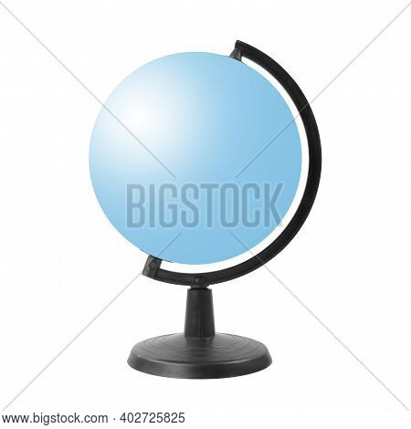 Science And Education - Blue Empry Globe Isolated On A White Background.