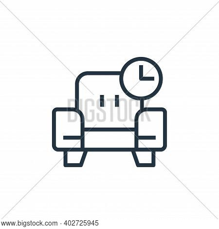 relax icon isolated on white background. relax icon thin line outline linear relax symbol for logo,