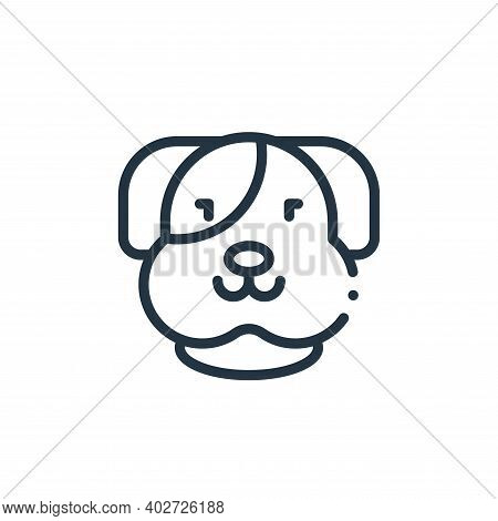 dog icon isolated on white background. dog icon thin line outline linear dog symbol for logo, web, a