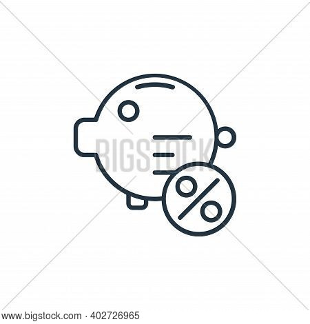 deposit icon isolated on white background. deposit icon thin line outline linear deposit symbol for