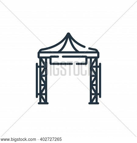 festival icon isolated on white background. festival icon thin line outline linear festival symbol f
