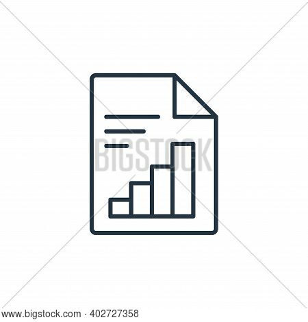 report icon isolated on white background. report icon thin line outline linear report symbol for log