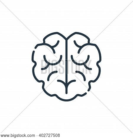 brain icon isolated on white background. brain icon thin line outline linear brain symbol for logo,