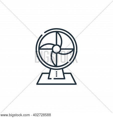 fan icon isolated on white background. fan icon thin line outline linear fan symbol for logo, web, a