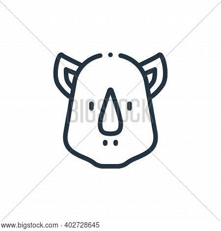 rhinoceros icon isolated on white background. rhinoceros icon thin line outline linear rhinoceros sy