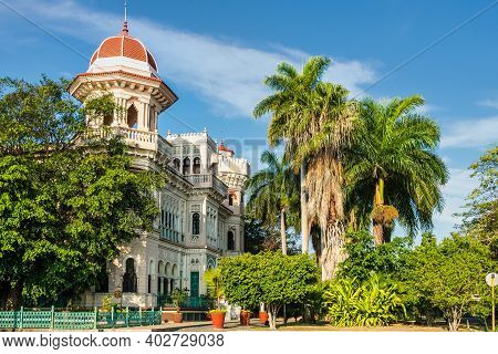 The Palacio De Valle In Punta Gorda, Cienfuegos, Cuba. Palace Inspired On Far East Architecture And