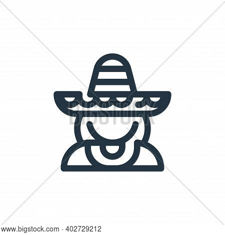 mexican icon isolated on white background. mexican icon thin line outline linear mexican symbol for