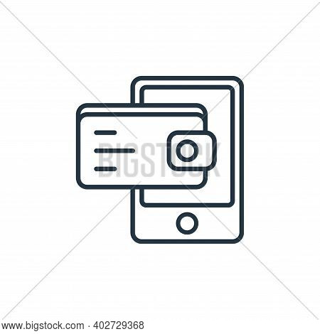 digital wallet icon isolated on white background. digital wallet icon thin line outline linear digit