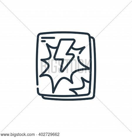 comic book icon isolated on white background. comic book icon thin line outline linear comic book sy