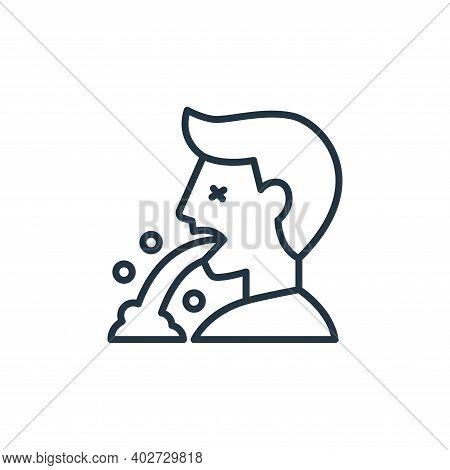 vomit icon isolated on white background. vomit icon thin line outline linear vomit symbol for logo,