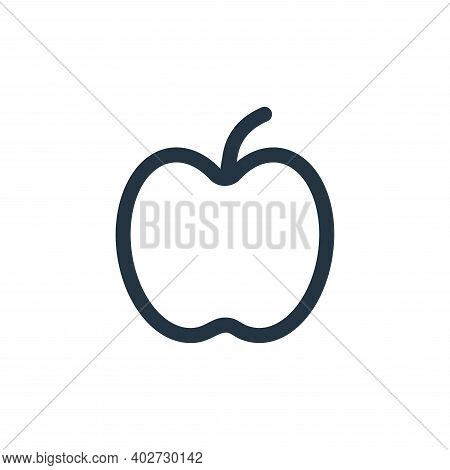 apple icon isolated on white background. apple icon thin line outline linear apple symbol for logo,