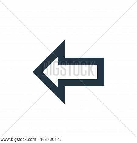 left arrow icon isolated on white background. left arrow icon thin line outline linear left arrow sy