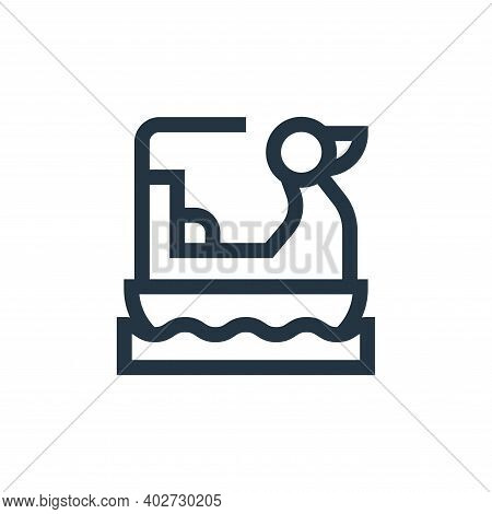 pedal boat icon isolated on white background. pedal boat icon thin line outline linear pedal boat sy