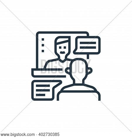 meeting icon isolated on white background. meeting icon thin line outline linear meeting symbol for