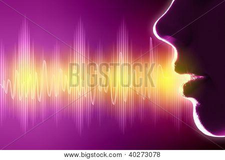 Equalizer sound wave background theme. Colour illustration.