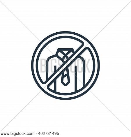 no work icon isolated on white background. no work icon thin line outline linear no work symbol for