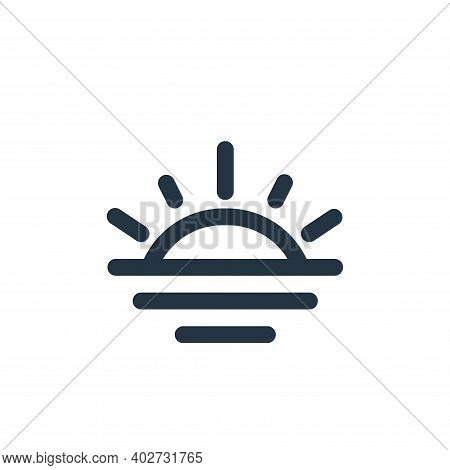 sunset icon isolated on white background. sunset icon thin line outline linear sunset symbol for log