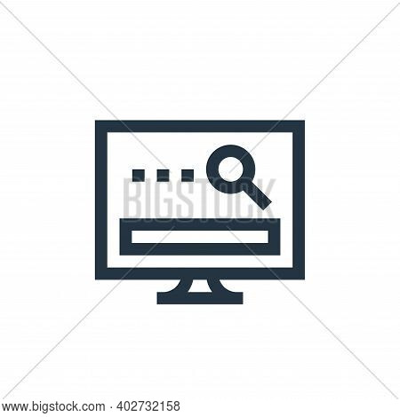 searching icon isolated on white background. searching icon thin line outline linear searching symbo