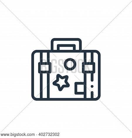 travel case icon isolated on white background. travel case icon thin line outline linear travel case