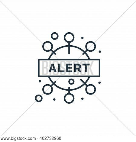 warning icon isolated on white background. warning icon thin line outline linear warning symbol for