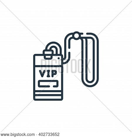 vip card icon isolated on white background. vip card icon thin line outline linear vip card symbol f