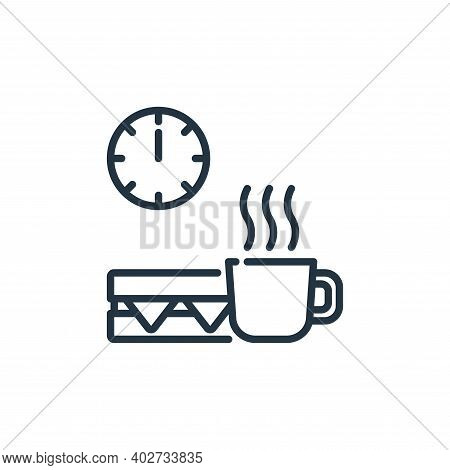 coffee break icon isolated on white background. coffee break icon thin line outline linear coffee br
