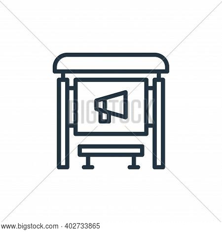 bus stop icon isolated on white background. bus stop icon thin line outline linear bus stop symbol f