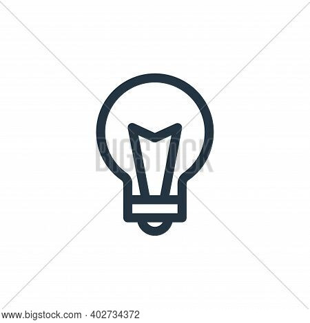 idea icon isolated on white background. idea icon thin line outline linear idea symbol for logo, web