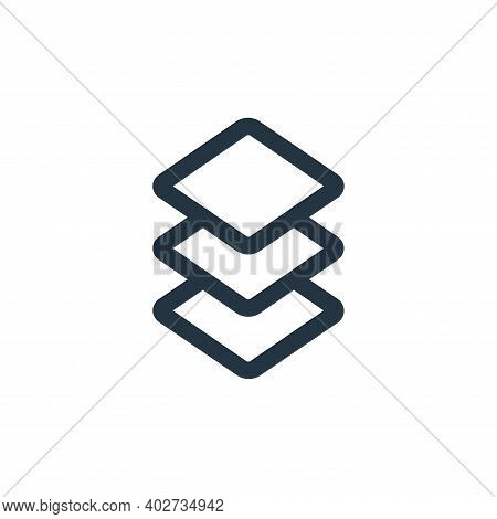 layer icon isolated on white background. layer icon thin line outline linear layer symbol for logo,
