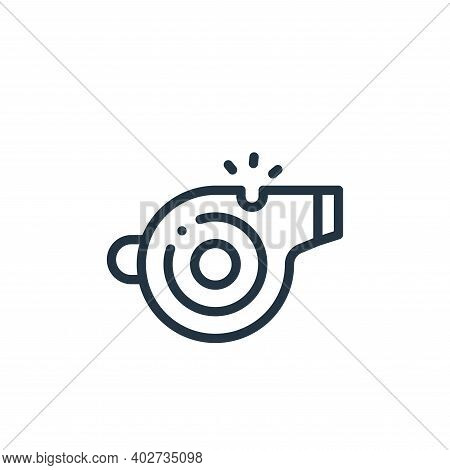whistle icon isolated on white background. whistle icon thin line outline linear whistle symbol for