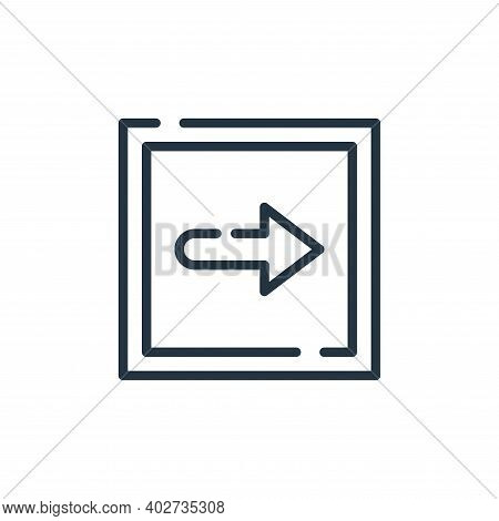 right icon isolated on white background. right icon thin line outline linear right symbol for logo,