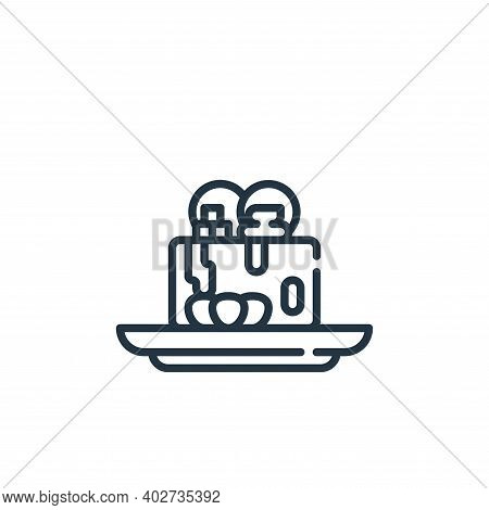 dessert icon isolated on white background. dessert icon thin line outline linear dessert symbol for
