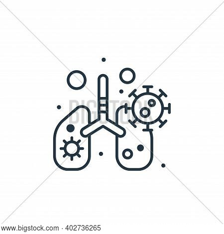 infected lungs icon isolated on white background. infected lungs icon thin line outline linear infec