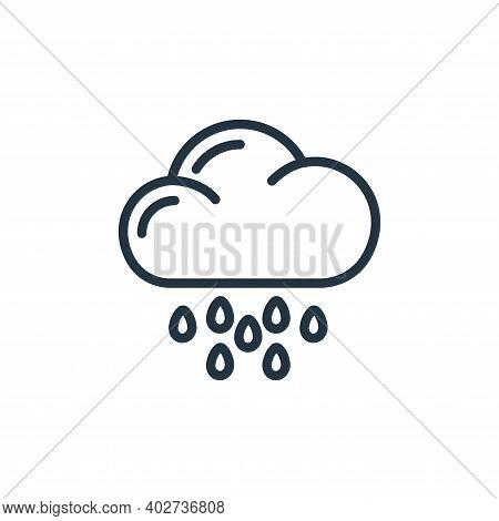 rainy day icon isolated on white background. rainy day icon thin line outline linear rainy day symbo
