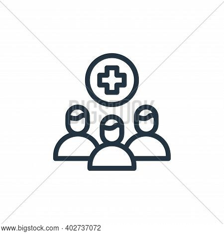 crowd icon isolated on white background. crowd icon thin line outline linear crowd symbol for logo,