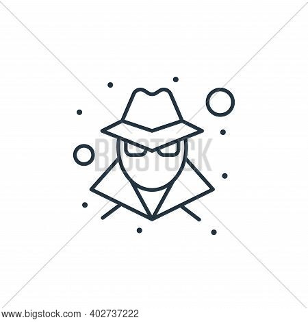 hacker icon isolated on white background. hacker icon thin line outline linear hacker symbol for log