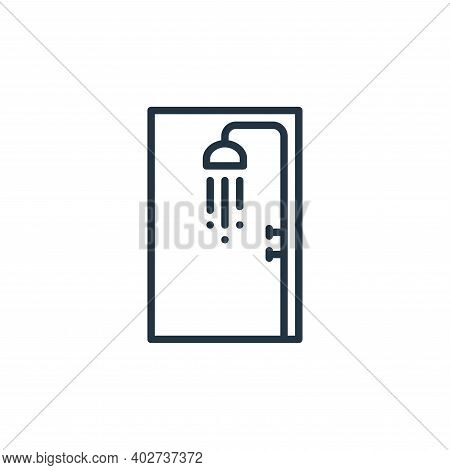 shower icon isolated on white background. shower icon thin line outline linear shower symbol for log