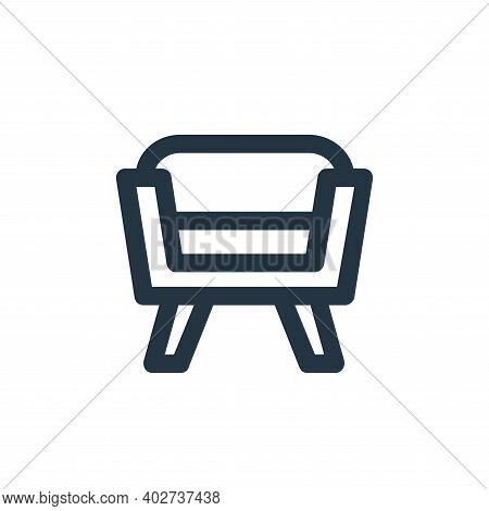 seat icon isolated on white background. seat icon thin line outline linear seat symbol for logo, web